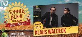 Sa. 11. Juli – Klaus Waldeck